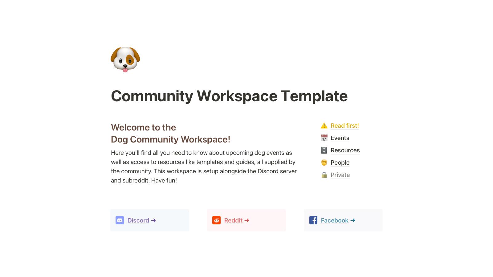 Community Workspace