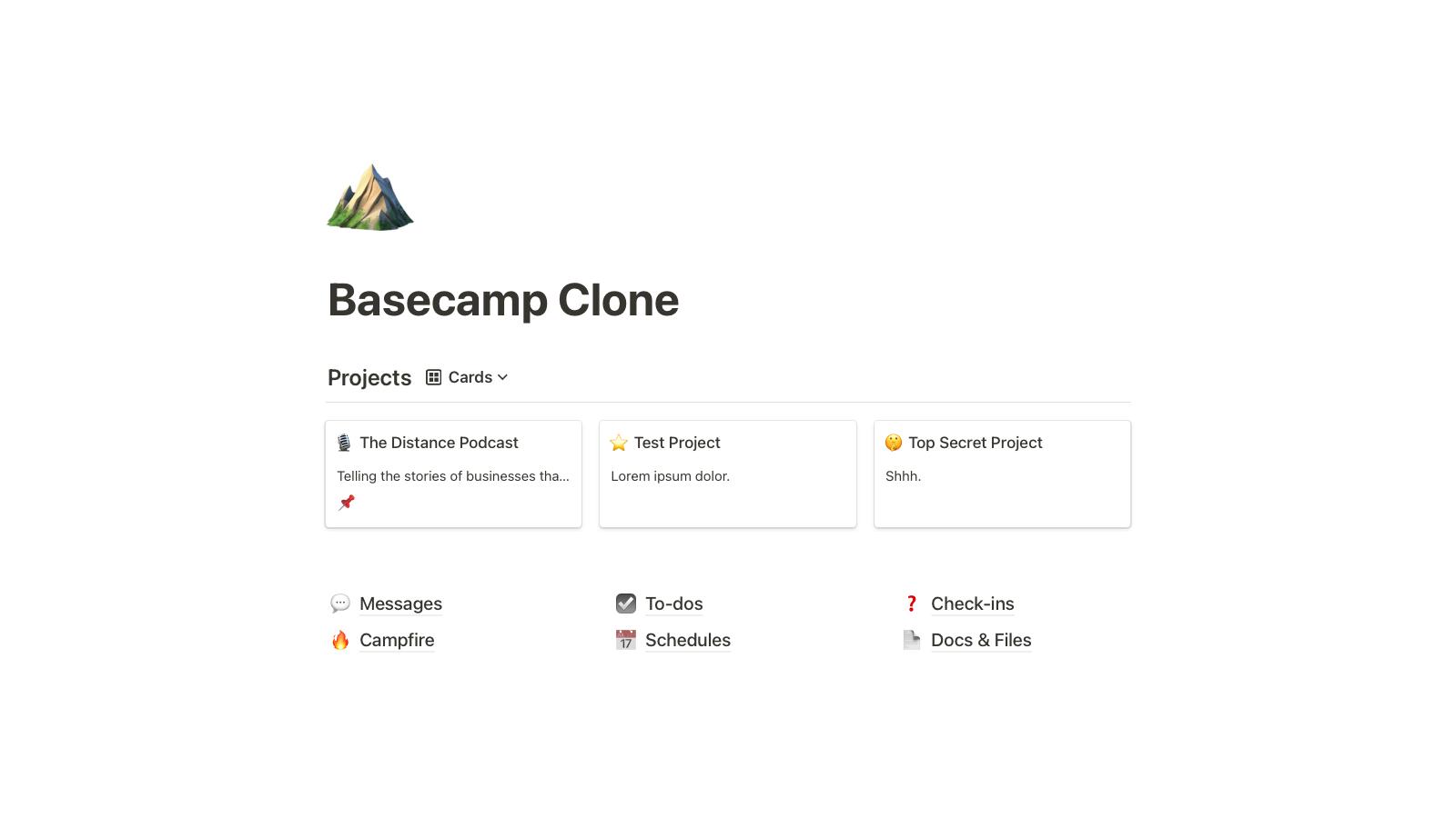 Basecamp Clone